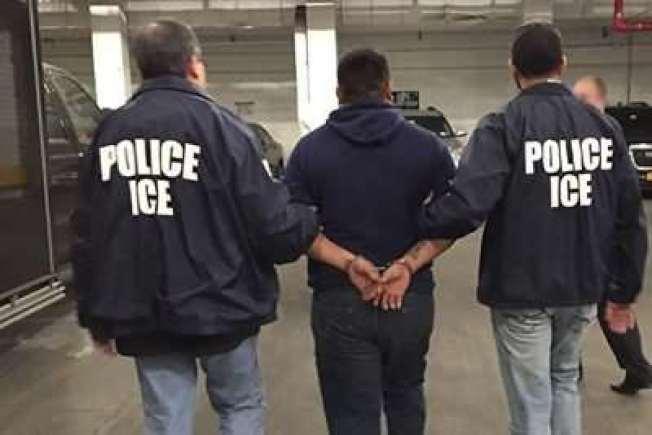 ICE各地逮捕無證移民,送入移民監獄關押。(ICE提供)