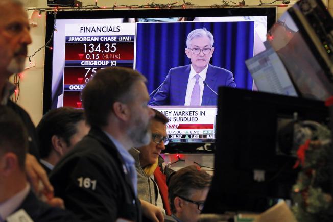 川普的股市表現主要是受到聯準會的提振。(美聯社)