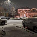 羚羊谷降雪8吋 居民驚喜
