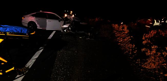 死亡谷國家公園20日發生車禍慘案。(CHP)