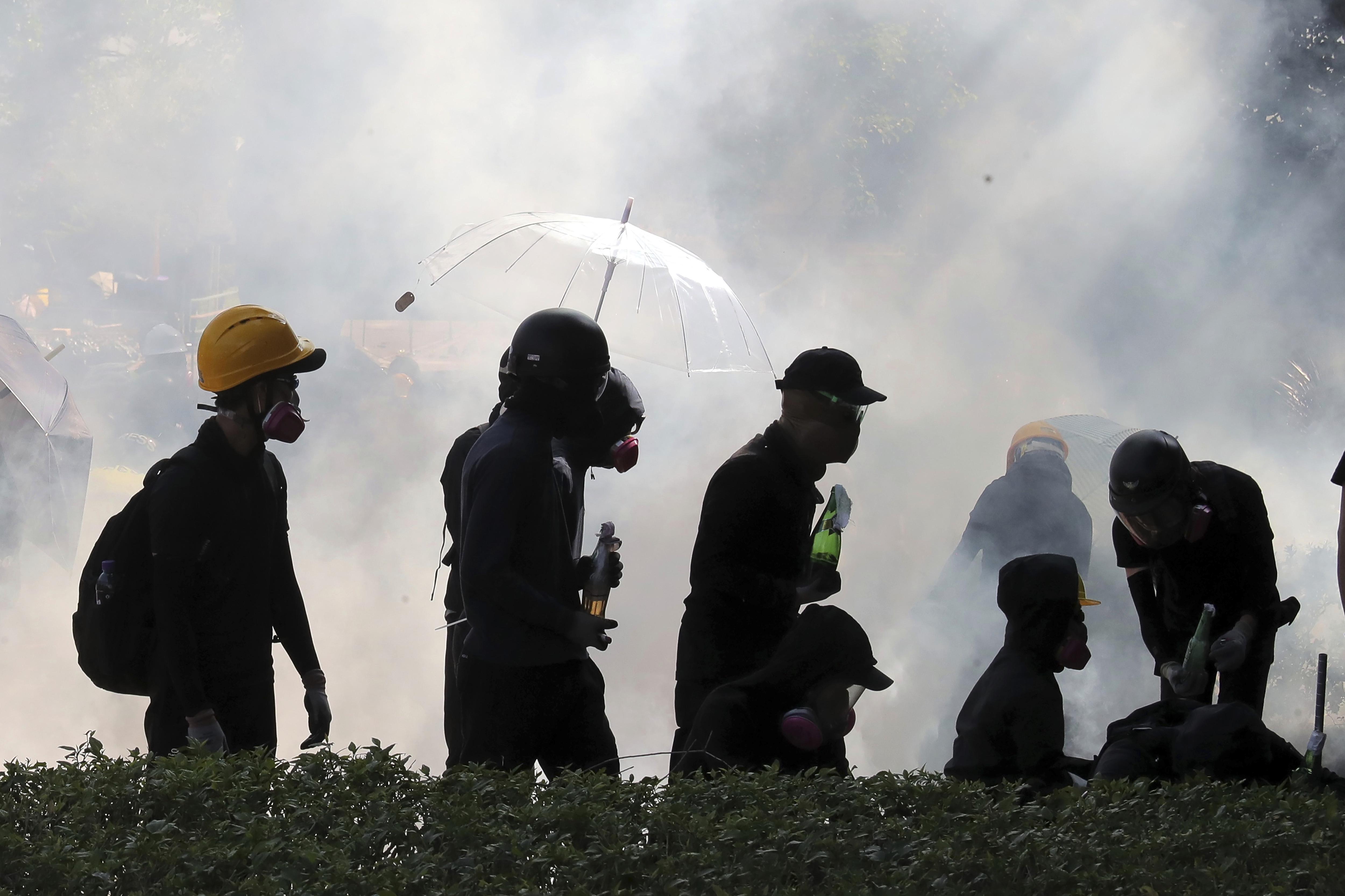香港示威者。(美聯社)