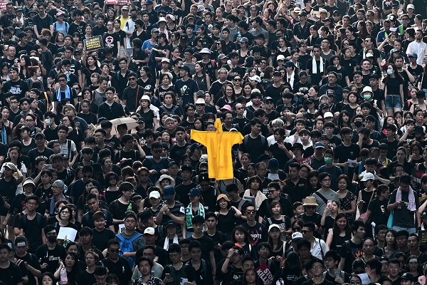 港人反送中抗爭已持續半年。(Getty Images)