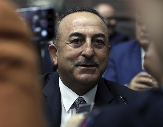 土耳其外交部長卡夫索格魯今天表示,若遭美國制裁,土耳其將會「禮尚往來」。(美聯社)