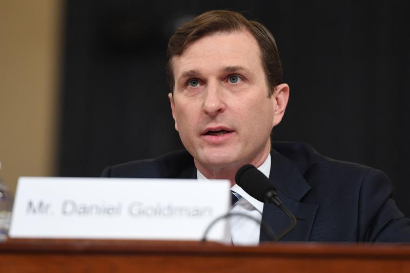 代表民主黨的律師戈德曼(Daniel Goldman)。Getty Images