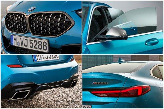 採用無窗框設計,M235i xDrive配置直徑90mm的方形尾管。(BMW)