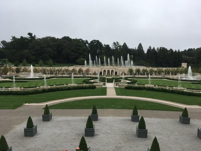 長木公園的室外噴水池。