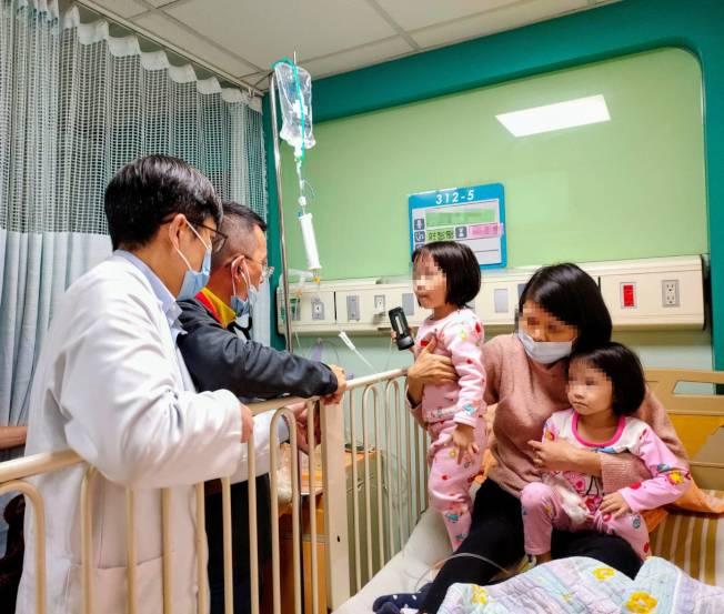 3歲女童小宣確診黴漿菌肺炎,在聖保祿醫師莊智賢與兒科診所醫師曹景雄合力診治下,逐漸康復。(圖:聖保祿醫院提供)