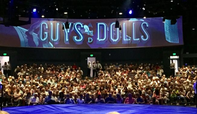 去年夏天觀賞的《Guys and Dolls》。(圖均為作者提供)