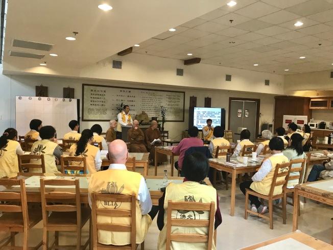 國際佛光會北卡協會會員參加2019 年度會員大會。(記者王明心/攝影)