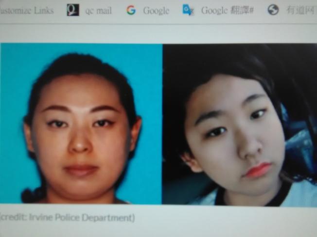 加州华女吴美意(音译)和女儿梅丽莎•傅失踪,警方正在寻人。 (加州尔湾警察局脸书)