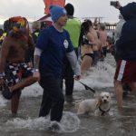 康尼島元旦冬泳 不少華人自我挑戰 還帶孩子「嘗鮮」