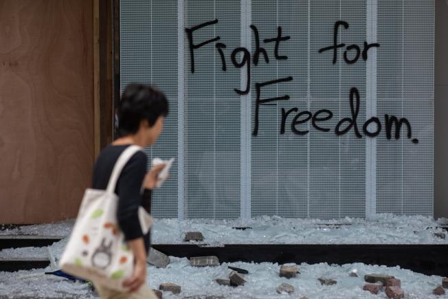 「反送中」運動淪為重災區的香港中文大學,其維修費預計高達7000萬港元。(歐新社資料照片)