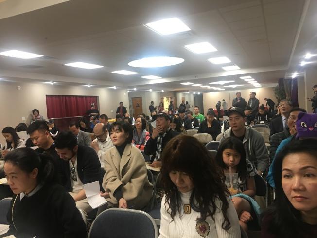 部分廠商參加主辦方舉辦的說明會。(記者王全秀子/攝影)
