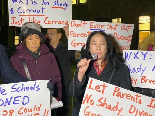 陳慧華批評「校園多元化計畫」基於族裔,不同對待學生。(記者牟蘭/攝影)