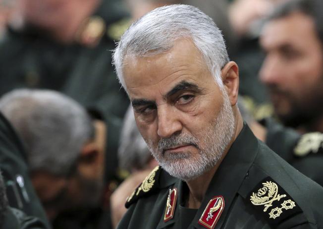 伊朗革命衛隊將領蘇雷曼尼遭美軍擊殺,引發中東及全球緊張。(美聯社)
