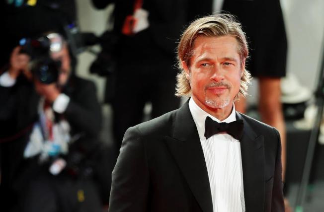 布萊德彼特獲本屆金球獎最佳電影男配角呼聲極高。(歐新社資料照片)