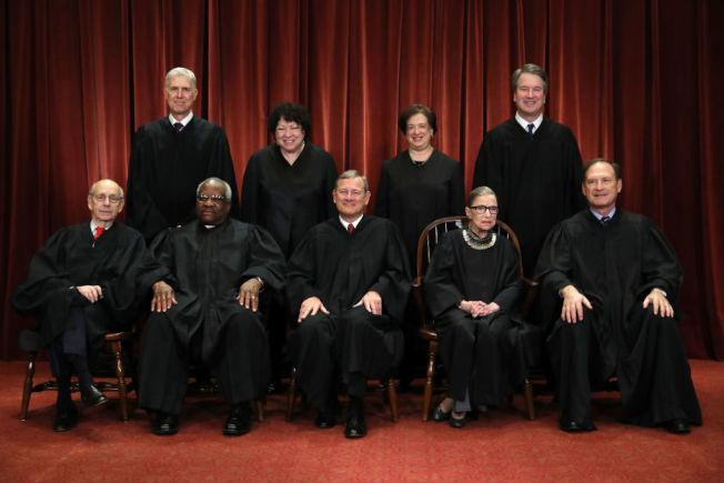 最高法院有幾位大法官、首席大法官是誰,許多美國人常混淆。 (Getty Images)
