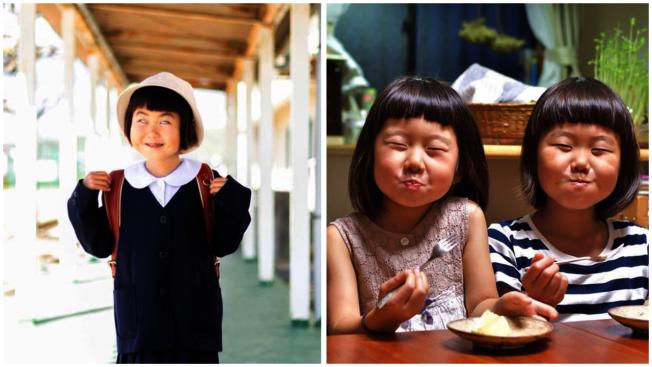 日本媽媽Kana時常在Instagram上傳2個女兒搞笑的照片。圖/Instagram