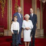 英王室新年合影 小喬治長高了
