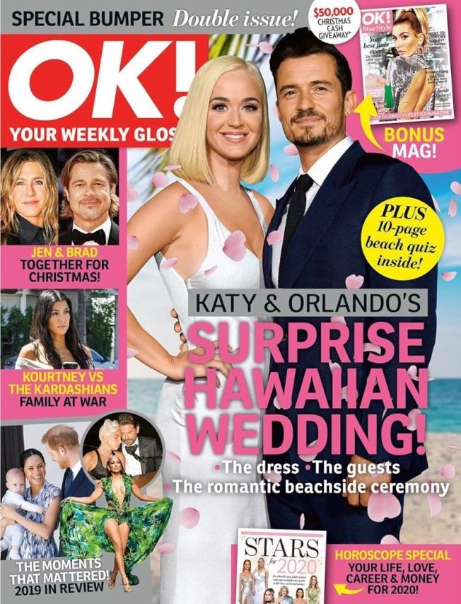 奧蘭多布魯與凱蒂佩芮被八卦刊物封面報導在夏威夷秘婚。(取材自Instagram)