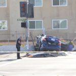 阿市警追捕開槍 女賊中彈撞車