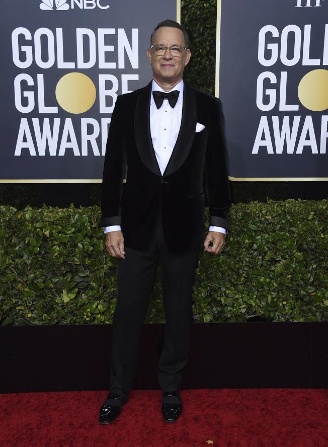 湯姆漢克榮獲第77屆金球獎特別成就獎。(美聯社)