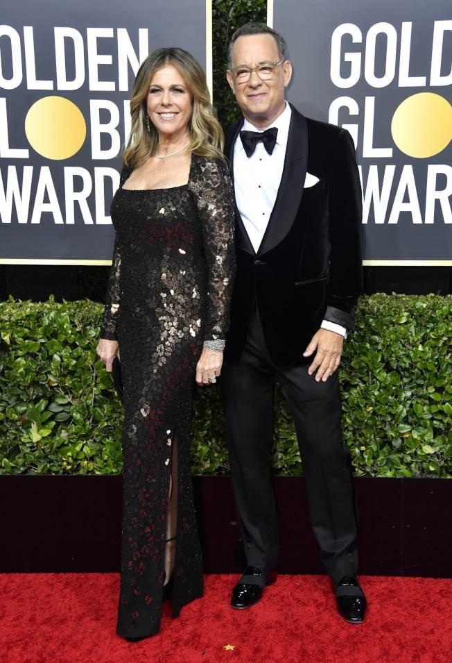湯姆漢克和老婆麗塔威森。(Getty Images)