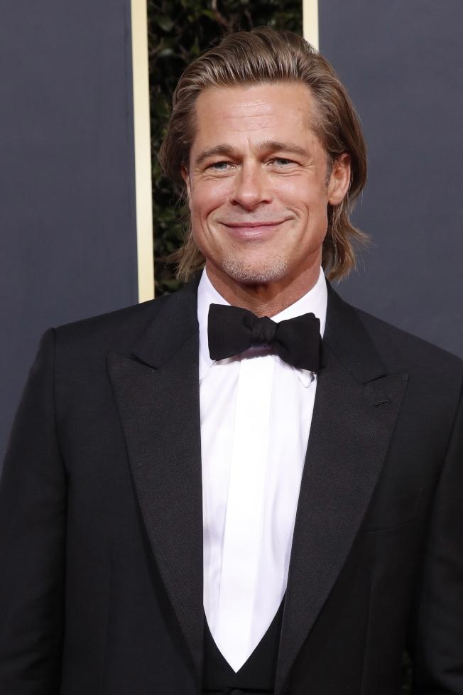 2020金球獎最佳男配角布萊德彼特,以「從前有個好萊塢」獲獎。(歐新社)