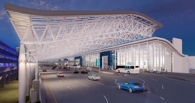 夏樂市道格拉斯國際機場展開整修工程。(臉書官網)