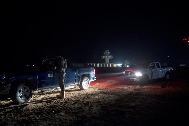 這是伊拉克阿薩德基地外圍。(美聯社)