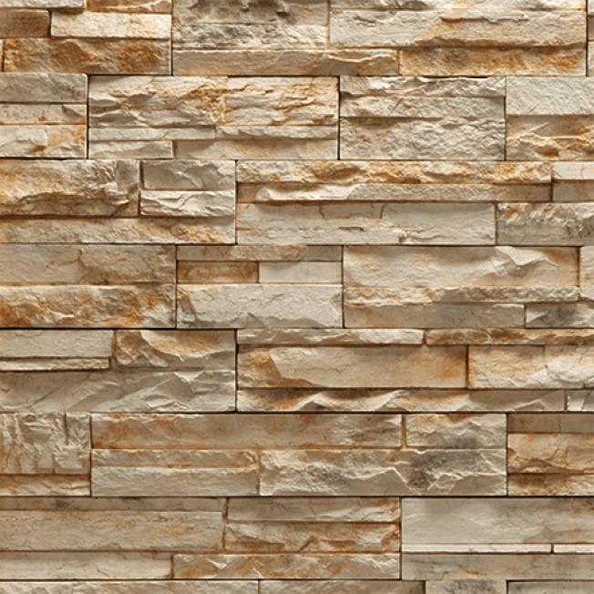 石層板有一種自然美,室內外都可用,且不需填縫劑。(取自HomeDepot)