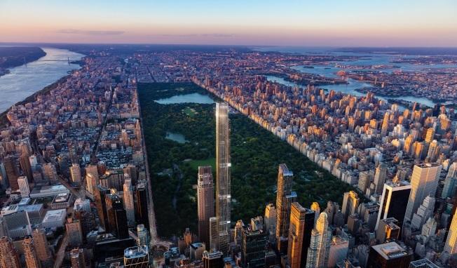 中央公園塔號稱世界最高住宅樓。(Extell提供)