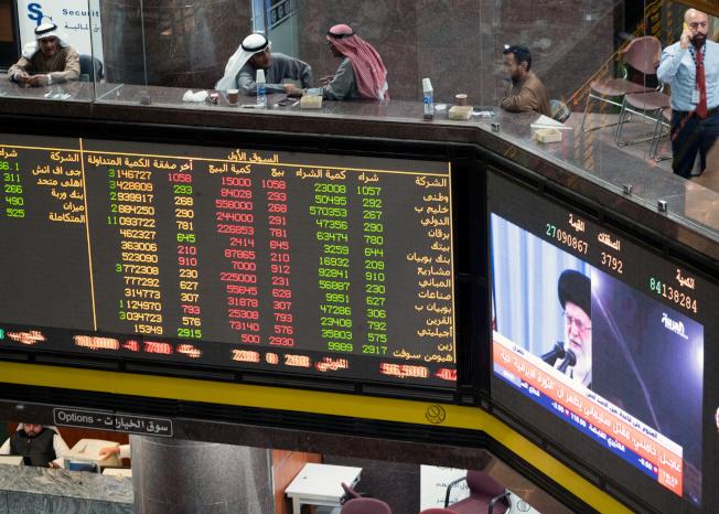 美伊緊張關係緩和後,華爾街股市止跌回升。(路透)