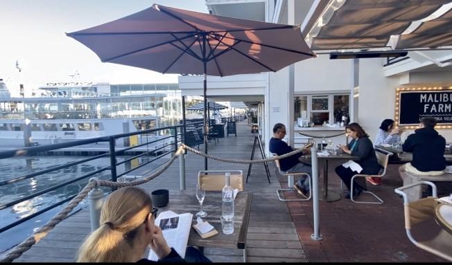 新港灘海灣餐廳。(記者尚穎/攝影)