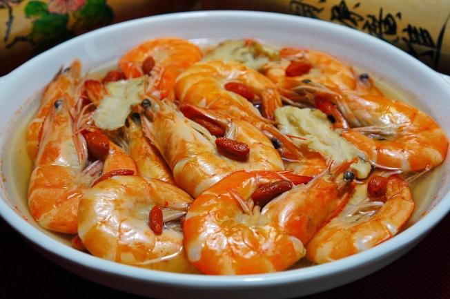 玫瑰露酒蝦