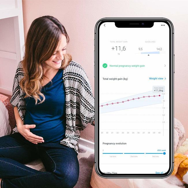 磅秤結合手機app,可以記錄下體重的變化。(Amazon)