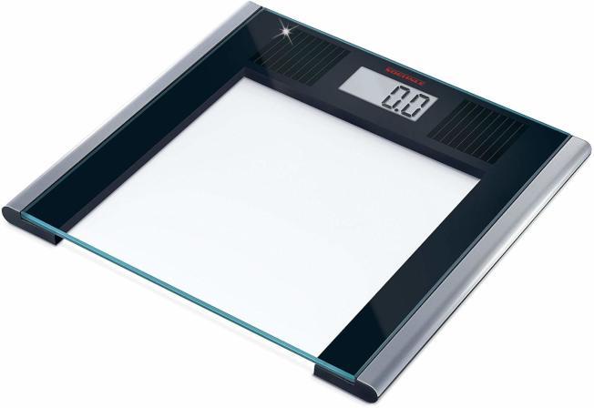 太陽能電池磅秤,不必擔心電池耗盡。(Amazon)