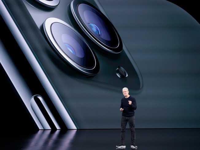 蘋果10日以310元收盤。著名分析師蒙斯特(Gene Munster)10日說,蘋果股價仍有50%的上漲空間。(Getty Images)