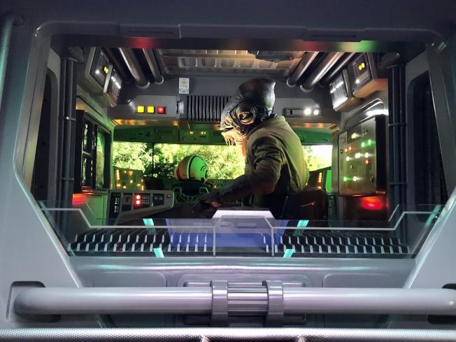 「星球大戰:反抗軍的崛起」遊樂設施的一部分。(朱蕾/攝影)
