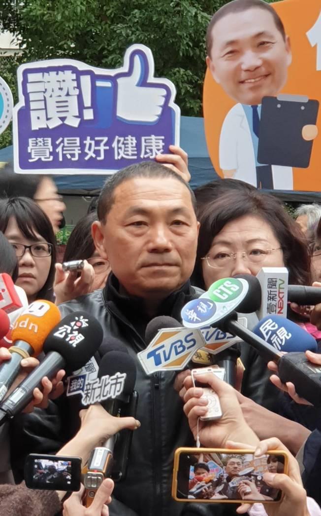 總統選舉國民黨大敗,新北市長侯友宜表示,民意很重要的,隨時在考驗政黨。(記者陳煜彬/攝影)