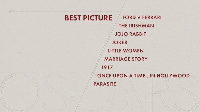 最佳影片入圍名單。