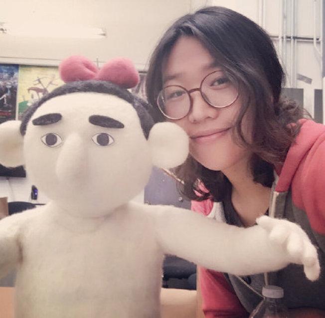 宋思琪用羊毛製作出她片中的角色。(圖:宋思琪提供)