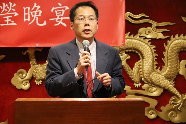 僑務委員王祥瑞代表致詞。(記者陳淑玲/攝影)