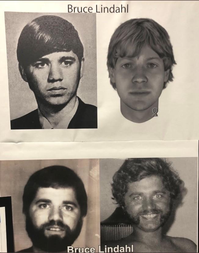 透過最新的DNA分析,描繪出凶嫌樣貌(右上),然後再比對資料庫照片,讓檢方終於找出殺死女高中生的嫌犯。(檢方提供)