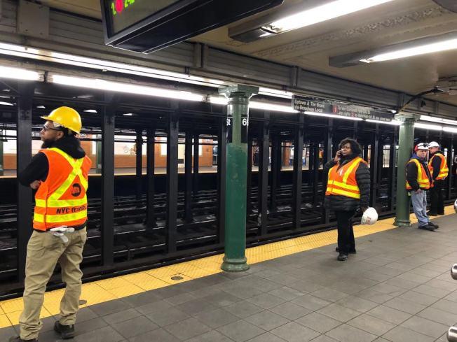 地鐵在晚高峰之前恢復了運行。(記者張晨/攝影)
