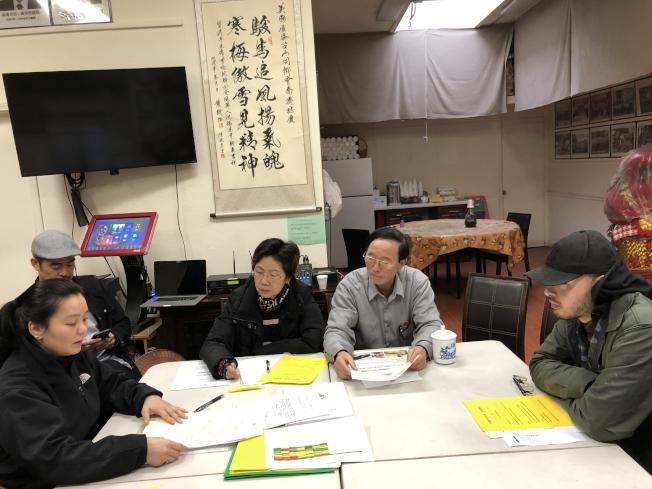 屋崙華埠業主、社區代表13日與台山同鄉會開會,決定成立屋崙華埠協會,更有效的與政府溝通,讓華埠業主安心經商。(記者劉先進/攝影)