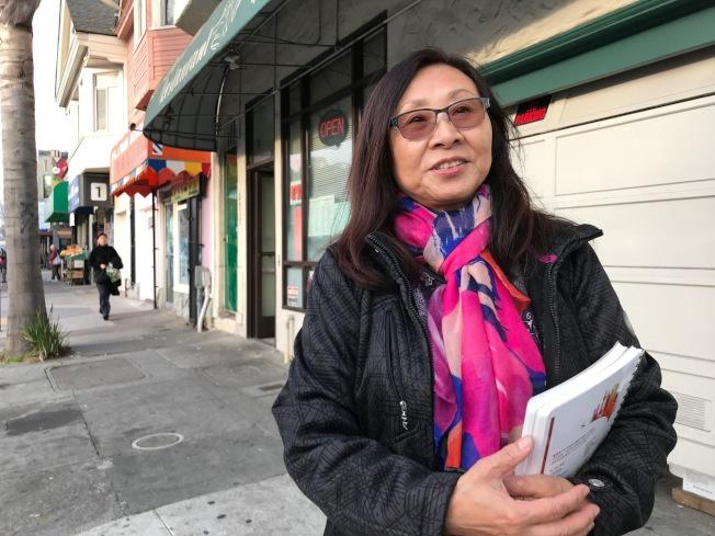 周末10起華裔及亞裔暴力搶案中,一起發生在肖化區李美玲曾經營的中餐館鈴鈴小館前。(記者李秀蘭/攝影)