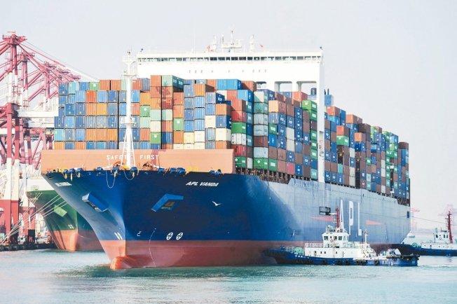 美中15日將簽署第一階段貿易協議,圖為美國一艘貨輪停靠中國港口。圖╱Getty Images