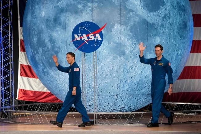 35歲的金強尼(左)成了即將展開太空之旅的國家太空總署(NASA)首位韓裔太空人。Getty Images