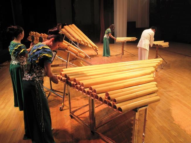 北京竹樂團的樂器全部由竹子製作。(竹樂團提供)